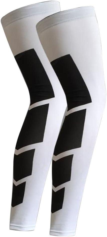 Bodbii Recupero Compressione Leg Maniche Calcio Ciclismo Strech Gamba Ginocchio Protector Stocking