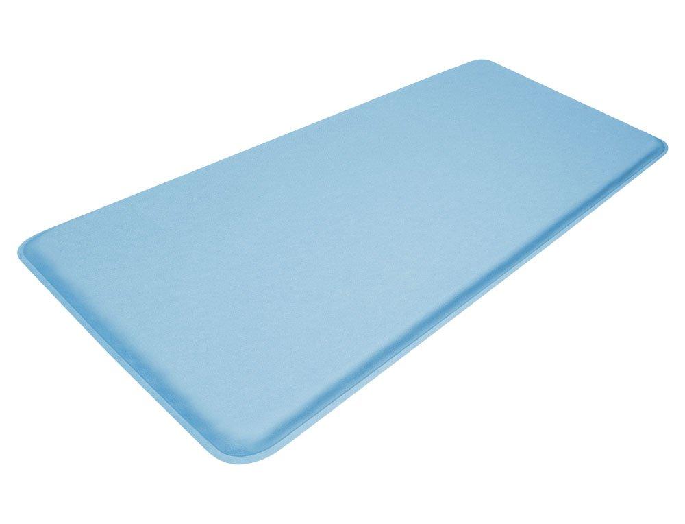 "GelPro Medical Anti-Fatigue Mat: Standing Anti-Fatigue Floor Mat - Non Slip Heavy Duty Professional Mats - Ergonomic Cushioned Comfort Pad - 20"" x 48"" - Columbia Blue by GelPro (Image #1)"