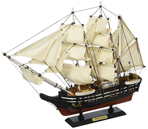 Boat Whaling (Hampton Nautical Wooden Moby Dick - Pequod Model Whaling Boat, 15
