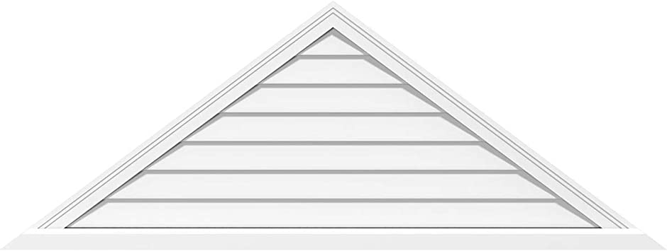 Ekena Millwork GVPTR60X1301SN Triangle Surface Mount PVC Gable Vent Factory Primed White Pitch 5//12-60 W x 12.5 H Inch