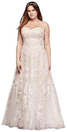 bfb5cb90c7e6 Melissa Sweet Lace A-Line Plus Size Wedding Dress Style 8MS251174, Ivory,  16W
