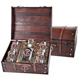 Florida State Seminoles Capitol Decanter Wood Chest Set