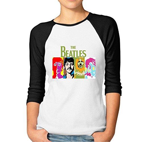 The Beatles Rock Band Raglan Sleeve O-Neck Half Sleeve Tshirts Girl Sexy Half Sleeve (Beatles Drum Collection)