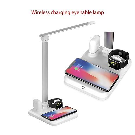 Lámpara de escritorio 4 en 1 cargador inalámbrico LED ...