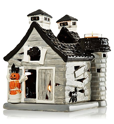 Bath & Body Works Haunted Barn House Luminary - Holds 3 Mini Candles - Great Halloween Table Decoration - Brand New in Factory - Haunted House Mini
