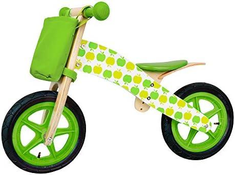 WOOMAX - Bicicleta sin pedales de madera Manzanas (ColorBaby 85101): Amazon.es: Juguetes y juegos