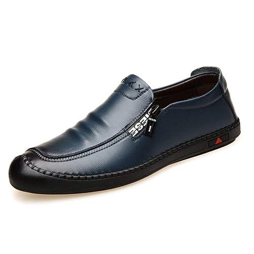 Gtagain Hombre Zapatos Mocasines Derby - Cómodo Antideslizante Deporte Encaje Conducir Negocio Pisos Transpirable: Amazon.es: Zapatos y complementos
