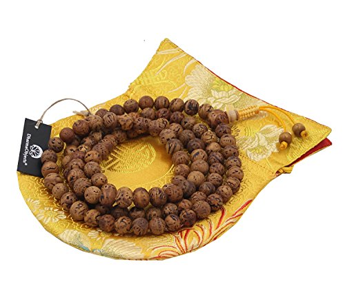 DharmaObjects Tibetan Buddhist MEDITATION 108 Beads Genuine BODHISEED MALA For Compassion (Necklace Mlb Genuine)