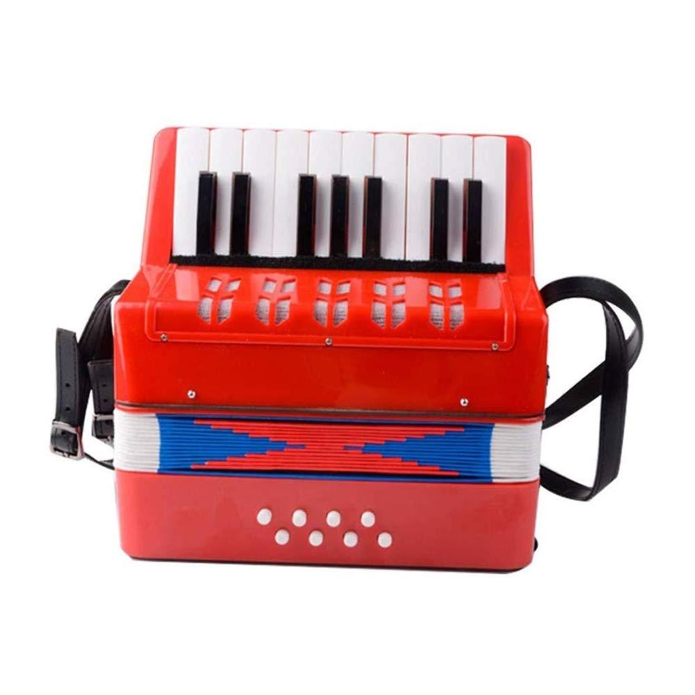 KJRJGQ Piano Children's Accordion Early Learning Musical Instrument Beginner 17 Keys 8 Bass Parenting Toys Mini Accordion Multicolor Optional ( Color : Red ) by KJRJGQ