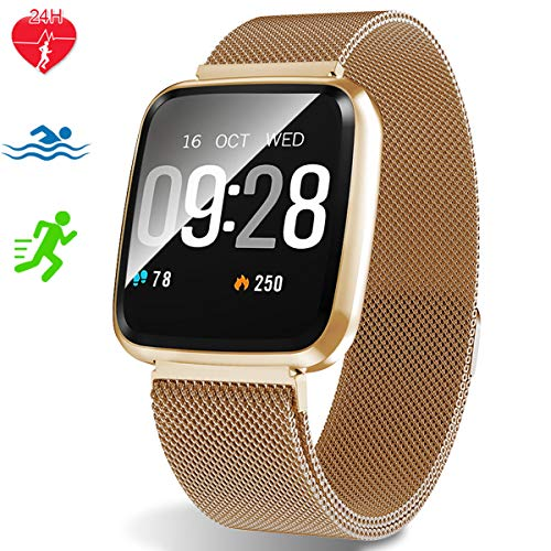 Fitness Tracker - Activity Tracker with Heart Rate Monitor - Waterproof Smart Watch with Step Counter - Pedometer Watch for Kids Women and Men