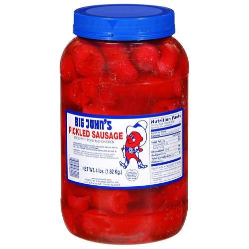 - Big John's Pickled Sausage, 4 lb Jar (Pack of 1)