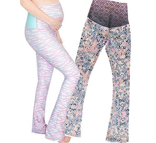 b9901faedf Appleletics Womens Multi Patterned Printed Maternity. Review - Appleletics  Women's Unique Multi-Patterned Printed Maternity Flare Yoga Pants