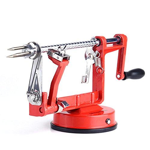 Apple Peeler Masione® Slicer & Corer / Peel, Slice & Core W/ Suction Base for Everyday Kitchen Use - Apple Basics Peeler