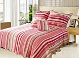 DaDa Bedding Reversible Stunning Striped Multi-Colored Quilt Bedspread Review and Comparison