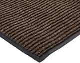 NoTrax 117 Heritage Rib Entrance Mat, for Lobbies and Indoor Entranceways, 3' Width x 6' Length x 3/8'' Thickness, Brown