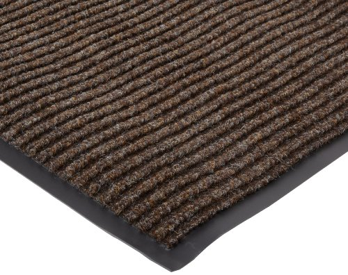 NoTrax 117 Heritage Rib Entrance Mat, for Lobbies and Indoor Entranceways, 3' Width x 6' Length x 3/8'' Thickness, Brown by NoTrax