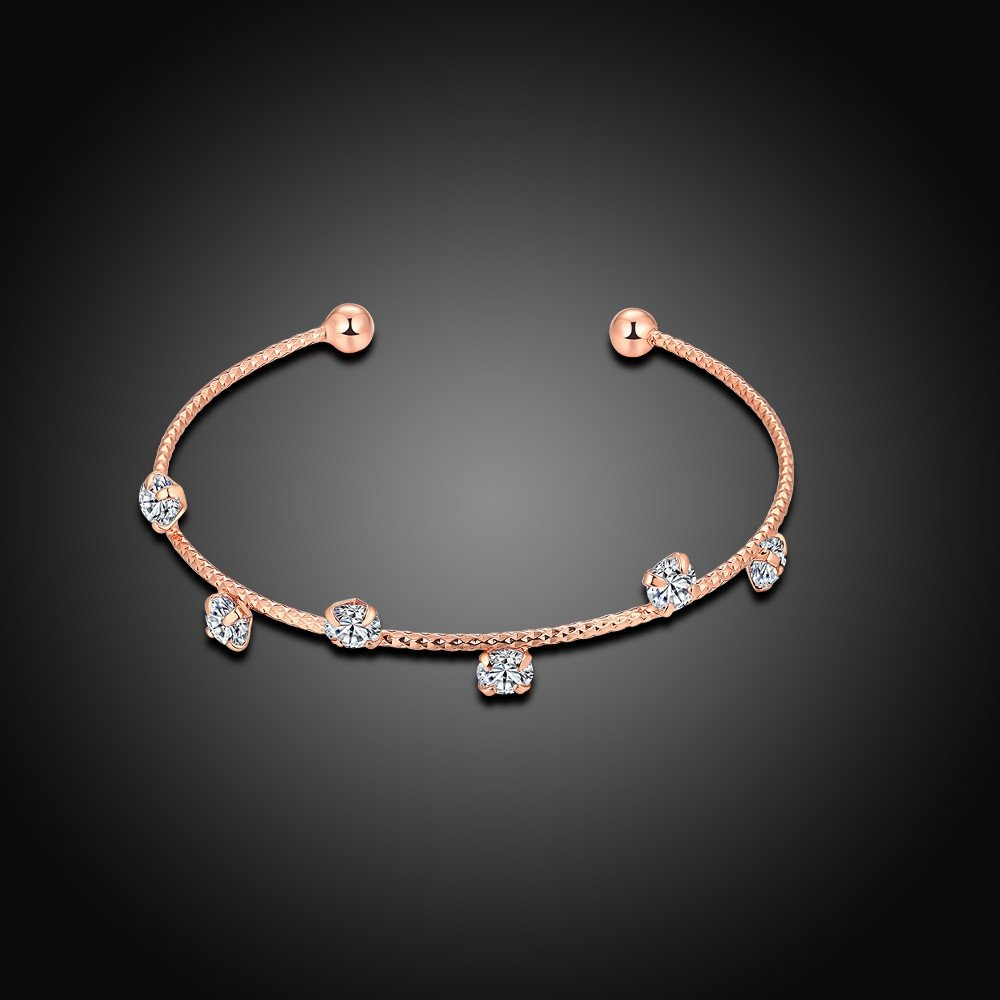 drop shipping Rose Gold or Silver Option Marwar Bracelet Bangle DIY Jewelry Fit Charm Beads