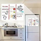 "Dry Erase Monthly Calendar Set - Gvoo 15.8"" x 11.8"" Large Smart Planner's Magnetic Message Board/Fridge Calendar Monthly Schedule Board/Message Board and Reminder—White Board"