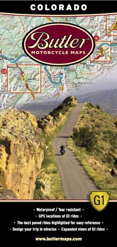Butler Maps G1 Colorado Motorcycle Map, (Colorado Outlets)