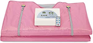 ETE ETMATE Digital Far-Infrared (FIR) Oxford Sauna Blanket Body Shaper Professional Detox Therapy Beauty Anti Ageing Machine (Pink)