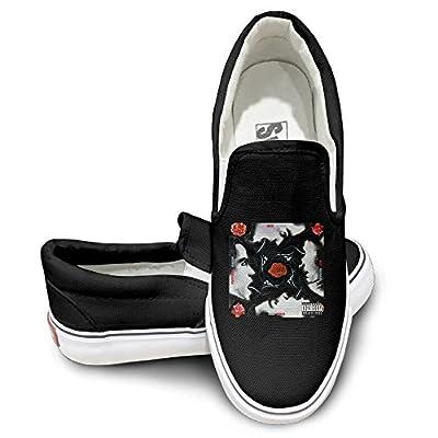 PTCY RHCPs Blood Sugar Sex Magik Casual Unisex Flat Canvas Shoes Sneaker Black