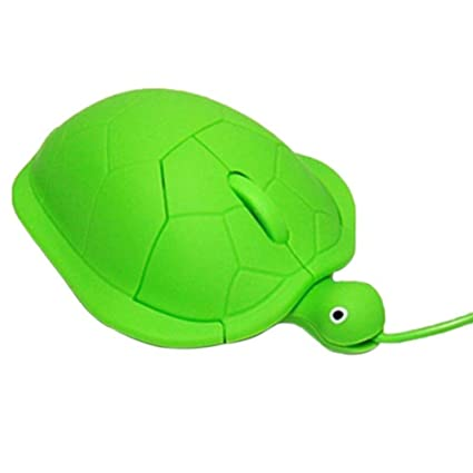 SODIAL 1000dpi Raton USB Optico de Ordenador portatil PC Tortuga de Moda Animal de Dibujos Animados