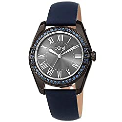 Swarovski Crystal Studded Leather Strap Watch