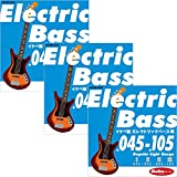 "Ikebe Original Electric Bass Strings ""イケベ弦 エレキベース用 045-105"" [Regular Light Gauge/IKB-EBS-45105]×3セット"