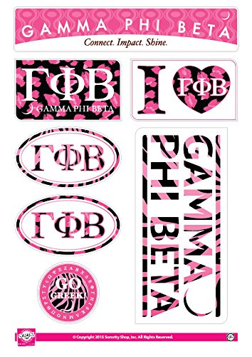 Amazon Com Sorority Shop Gamma Phi Beta Sticker Sheet