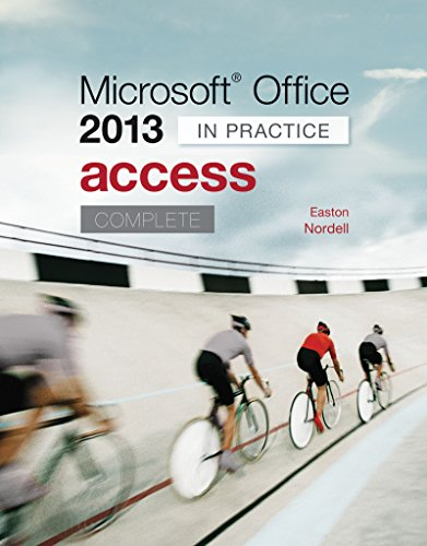 Microsoft Office Access 2013 Complete: In Practice Pdf