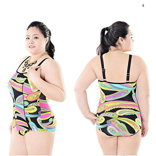 SHISHANG Sra. Del bikini traje de baño de cuerpo Europa y los Estados Unidos para aumentar el tamaño del traje de baño de alta flexibilidad y protección del medio ambiente 4