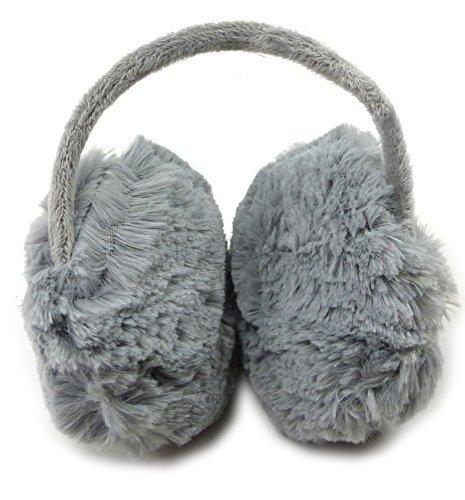 Trendit - Orejeras para niños y adultos (suave y cálido, en acabado de calidad) gris