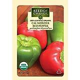 Seeds of Change Certified Organic Pepper, Cal Wonder Red Bell - 200 milligrams, 25 Seeds Pack