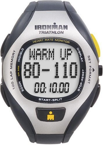 Timex Ironman Unisex 100-Lap Target Trainer Heart Rate Monitor Watch T5F001
