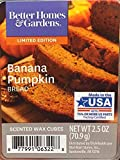 Better Homes and Gardens Banana Pumpkin Bread Scented Wax Cubes, NET WT 2.5 OZ