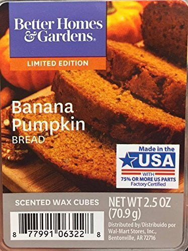 Price comparison product image Better Homes and Gardens Banana Pumpkin Bread Scented Wax Cubes,  NET WT 2.5 OZ