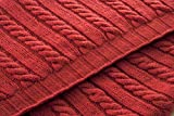 Handmade Classic style 100% Merino Wool 70'' x 55'' Throw Blanket Made in Ireland (Red)