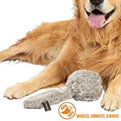 Hyper Pet doggie tail dog toy is the wiggling, barking tail of fun! This interactive dog toy jumps, barks, and makes loads of fun noises that stimulate dog's interest. The motion activated sensors encourages your pup to keep playing. This toy...