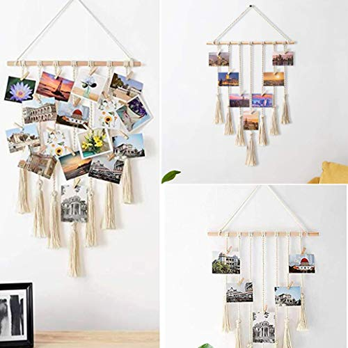 - Euone Wall Hanging Photo Display Cotton Bohemian Tassel Tapestry Wall Cotton Rope Cord