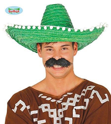Guirca 13651 - Sombrero Mexicano Paja 50 Cms. Verde  Amazon.es  Juguetes y  juegos 37720ee8b02