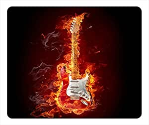 Flame Oblong Mouse Pad Guitar
