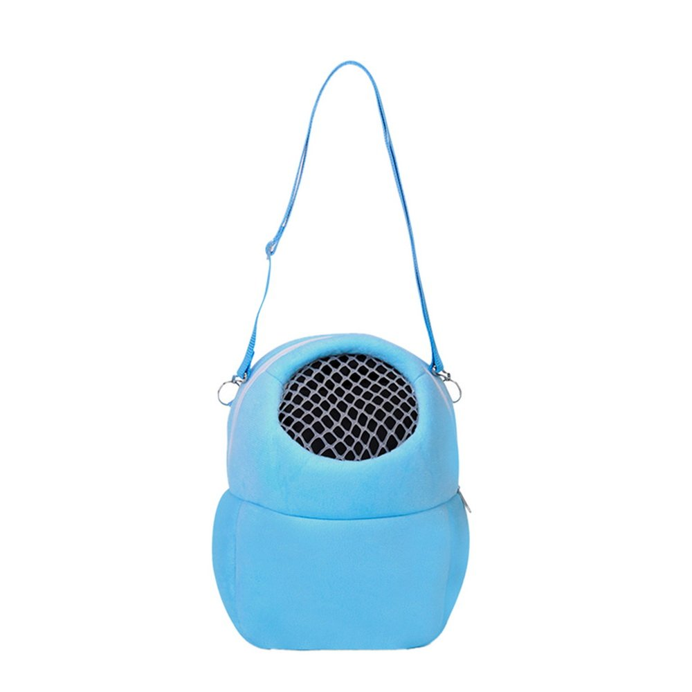 Heflashor Pet Carrier Soft-Sided Hamster Portable Breathable Outgoing Bag for Small Pets Blue)