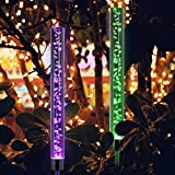 AMENER Solar Garden Lights Outdoor LED Bubble Light RGB Stake Color Changing Landscape Multi Color Changing Lights Solar Powered for Garden Patio Backyard Pathway Decoration: more info