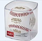 2016 WORLD SERIES CHICAGO CUBS CHAMPIONS BASEBALL IN ACRYLIC CUBE DISPLAY RAWLINGS