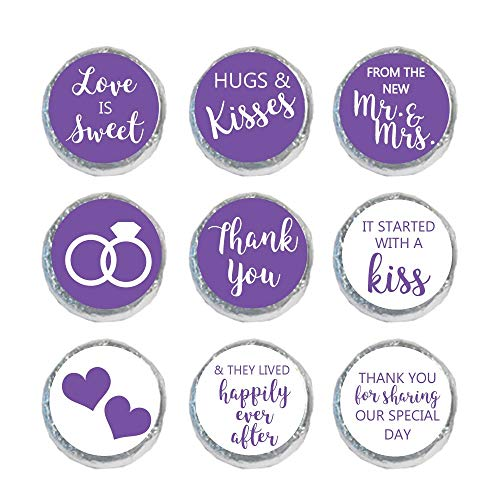 Mini Candy Stickers Wedding Favors Set of 324 (Purple)