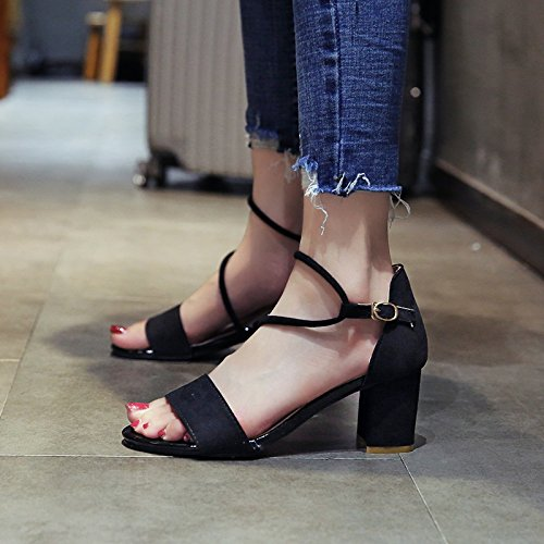 toe sandali toe moda nozze di estate partito Ladies' b YMFIE tacchi pwStWq7q