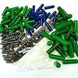 175Pc Ultra Precision High Temp Silicone Rubber End Cap Kit Powder Coating Custom Paint Supplies