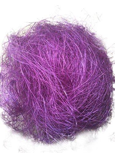 (AAYU Premium Quality Natural sisal Fiber Purple, 8 oz per Bag Great for DIY Projects and Basket Decoration Bird nest Fibre pad)