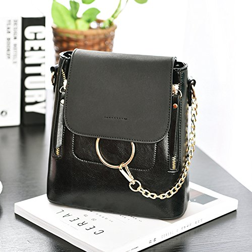 multifunción hombro 20L las mochila mochila de hombro viaje de del Black mensajero de bolsa honda mujeres bajo hombro bolsa Capacidad BwSpR