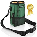Smart Dog Treat Pouch Bag for Dog Training – Easy Access to Treats & Training Accessories includes Free Roll of Waste Bags- Earth Green Review
